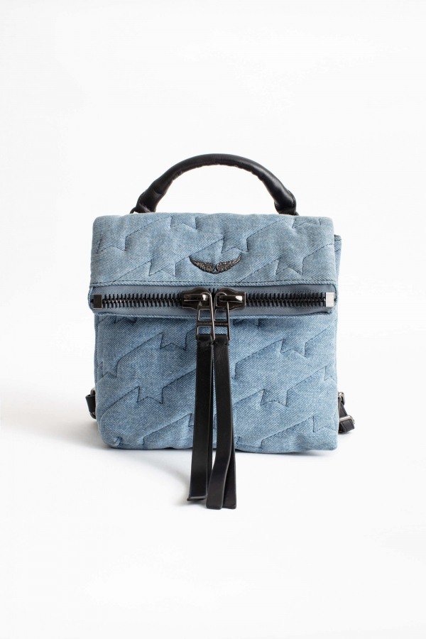 ROMY ZIP ZV QUILTED JEANS BAG