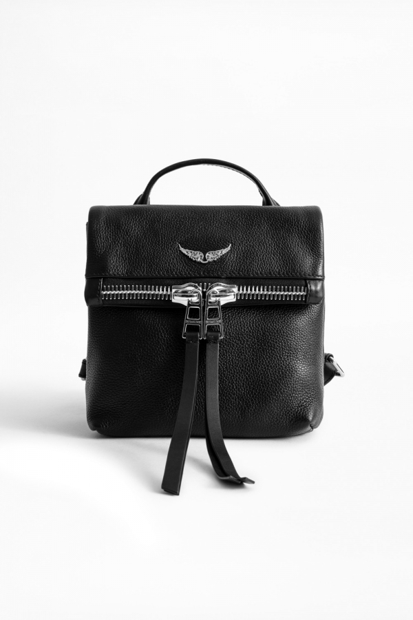 ROMY ZIP GRAINED LEATHER BAG