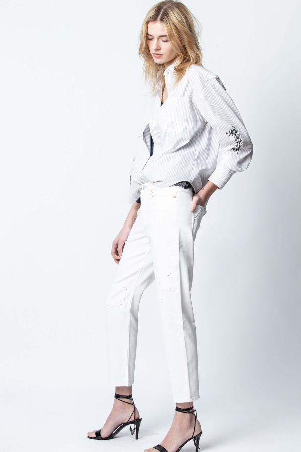 DEANA DENIM BLANC PANTS